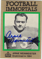 ARNIE WEINMEISTER AUTOGRAPHED FOOTBALL CARD #50312L