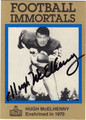HUGH McELHENNY AUTOGRAPHED FOOTBALL CARD #50412C