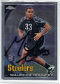 MAURKICE POUNCEY PITTSBURGH STEELERS AUTOGRAPHED ROOKIE FOOTBALL CARD #50413C