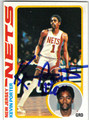 KEVIN PORTER NEW JERSEY NETS AUTOGRAPHED VINTAGE BASKETBALL CARD #50613D