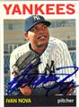 IVAN NOVA NEW YORK YANKEES AUTOGRAPHED BASEBALL CARD #50613F