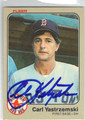 CARL YASTRZEMSKI BOSTON RED SOX AUTOGRAPHED VINTAGE BASEBALL CARD #50613J