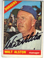 WALT ALSTON LOS ANGELES DODGERS AUTOGRAPHED VINTAGE BASEBALL CARD #50713F