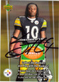 SANTONIO HOLMES AUTOGRAPHED ROOKIE FOOTBALL CARD #50512M
