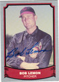 BOB LEMON AUTOGRAPHED BASEBALL CARD #50712D