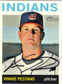 VINNIE PESTANO CLEVELAND INDIANS AUTOGRAPHED BASEBALL CARD #50813A