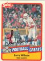LARRY WILSON AUTOGRAPHED FOOTBALL CARD #50912i