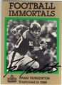 FRAN TARKENTON NEW YORK GIANTS AUTOGRAPHED FOOTBALL CARD #50913i
