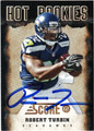 ROBERT TURBIN SEATTLE SEAHAWKS AUTOGRAPHED ROOKIE FOOTBALL CARD #51013J