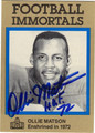 OLLIE MATSON AUTOGRAPHED FOOTBALL CARD #50912M