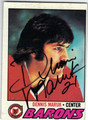 DENNIS MARUK CLEVELAND BARONS AUTOGRAPHED VINTAGE HOCKEY CARD #50913B