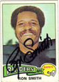 RON SMITH OAKLAND RAIDERS AUTOGRAPHED VINTAGE FOOTBALL CARD #50913E