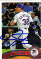 JOSH HAMILTON AUTOGRAPHED BASEBALL CARD #51412A