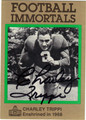 CHARLEY TRIPPI AUTOGRAPHED FOOTBALL CARD #51412B