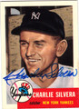 CHARLIE SILVERA NEW YORK YANKEES AUTOGRAPHED BASEBALL CARD #51213C