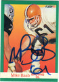MIKE BAAB CLEVELAND BROWNS AUTOGRAPHED FOOTBALL CARD #51213i