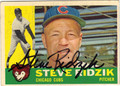 STEVE RIDZIK CHICAGO CUBS AUTOGRAPHED VINTAGE BASEBALL CARD #51213H