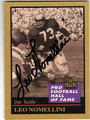 LEO NOMELLINO SAN FRANCISCO 49ers AUTOGRAPHED FOOTBALL CARD #51313E