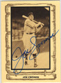 JOE CRONIN BOSTON RED SOX AUTOGRAPHED VINTAGE BASEBALL CARD #51313i