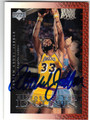 KAREEM ABDUL-JABBAR LOS ANGELES LAKERS AUTOGRAPHED BASKETBALL CARD #51413F