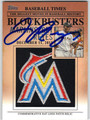 JOSE REYES FLORIDA MARLINS AUTOGRAPHED PIECE OF THE GAME BASEBALL CARD #51413i