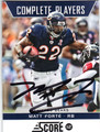 MATT FORTE CHICAGO BEARS AUTOGRAPHED FOOTBALL CARD #51513E