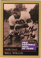 BILL WILLIS CLEVELAND BROWNS AUTOGRAPHED FOOTBALL CARD #51513G