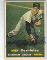 MIKE FORNIELES BALTIMORE ORIOLES AUTOGRAPHED VINTAGE BASEBALL CARD #51513J