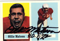 OLLIE MATSON CHICAGO CARDINALS AUTOGRAPHED FOOTBALL CARD #51613A