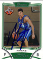 DANILO GALLINARI NEW YORK KNICKS AUTOGRAPHED ROOKIE BASKETBALL CARD #51813C