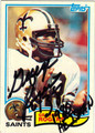 GEORGE ROGERS NEW ORLEANS SAINTS AUTOGRAPHED ROOKIE FOOTBALL CARD #51813E