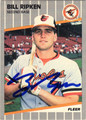 BILL RIPKEN BALTIMORE ORIOLES AUTOGRAPHED BASEBALL CARD #51613E