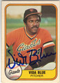 VIDA BLUE SAN FRANCISCO GIANTS AUTOGRAPHED VINTAGE BASEBALL CARD #51813F