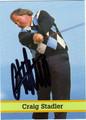 CRAIG STADLER AUTOGRAPHED GOLF CARD #51811G