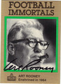 ART ROONEY PITTSBURGH STEELERS AUTOGRAPHED FOOTBALL CARD #52012C