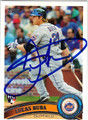 LUCAS DUDA NEW YORK METS AUTOGRAPHED ROOKIE BASEBALL CARD #52013G