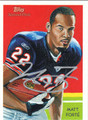 MATT FORTE AUTOGRAPHED FOOTBALL CARD #52112E