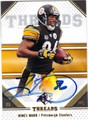 HINES WARD PITTSBURGH STEELES AUTOGRAPHED FOOTBALL CARD #52113A
