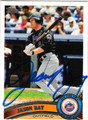 JASON BAY NEW YORK METS AUTOGRAPHED BASEBALL CARD #52113B