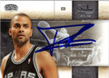 TONY PARKER SAN ANTONIO SPURS AUTOGRAPHED BASKETBALL CARD #52212M