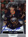 TYLER MYERS AUTOGRAPHED HOCKEY CARD #52212S