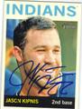JASON KIPNIS CLEVELAND INDIANS AUTOGRAPHED BASEBALL CARD #52213A