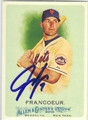 JEFF FRANCOEUR NEW YORK METS AUTOGRAPHED BASEBALL CARD #52213H