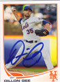 DILLON GEE NEW YORK METS AUTOGRAPHED BASEBALL CARD #52213J