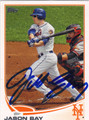JASON BAY NEW YORK METS AUTOGRAPHED BASEBALL CARD #52313B