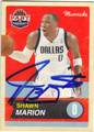 SHAWN MARION DALLAS MAVERICKS AUTOGRAPHED BASKETBALL CARD #52313C