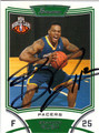 BRANDON RUSH INDIANA PACERS AUTOGRAPHED ROOKIE BASKETBALL CARD #52413C