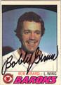 BOB GIRARD CLEVELAND BARONS AUTOGRAPHED VINTAGE HOCKEY CARD #52413E