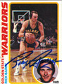RICK BARRY AUTOGRAPHED VINTAGE BASKETBALL CARD #52612H