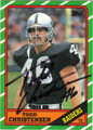 TODD CHRISTENSEN AUTOGRAPHED FOOTBALL CARD #52512i